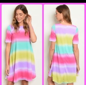 💋💋💋Electric Rainbow Dress